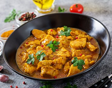 Curry With Chicken And Onions Indian Food Asian PLFRUS2